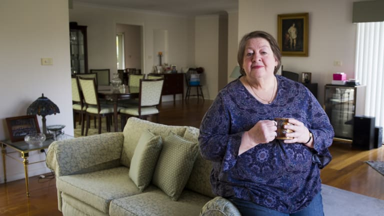 Lorraine Carvalho, who still lives in her Mr Fluffy house and refuses to have an asbestos management plan.