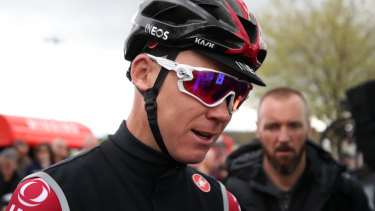Chris Froome sustained multiple injuries in a high-speed crash on the Dauphine course.