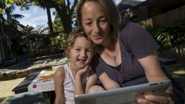 Carla Stern is mindful of the way she uses technology in front of her four year old son, Eli.