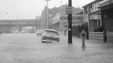 Flooding in Punt Road Richmond.