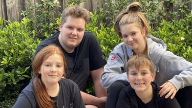 VicSRC student rep and year 12 student Mitch Sprague (second left) with siblings Maddison, Spencer and Mia.