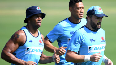 Kurtley Beale, Israel Folau and Adam Ashley-Cooper.