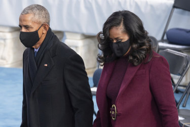 Barack and Michelle Obama at Joe Biden's inauguration.