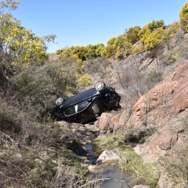 Kat's car was found crashed down an embankment at the Cotter.