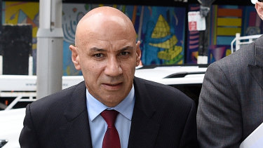 Moses Obeid arrives at the NSW Supreme Court for his criminal trial.