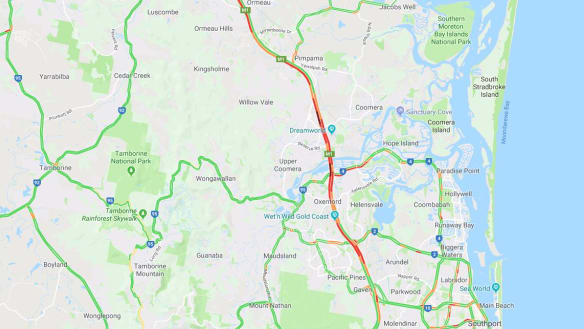 Commuter delays after beer bottles smashed on Pacific Motorway