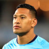 'Pause button' hit after Folau's Christian Lobby fund passes $2m mark