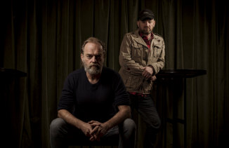 Hugo Weaving and Paul Ireland, at The Capitol, Melbourne, where Measure for Measure had its world premiere.