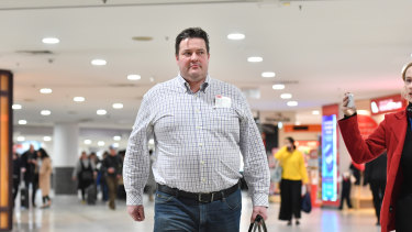 Victorian Labor MP Will Fowles arrives back in Melbourne from Canberra after the hotel incident.