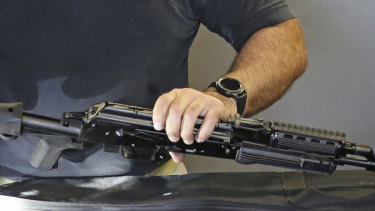 A bump stock is attached to a semi-automatic weapon. Such devices should be banned in Australia by Christmas.