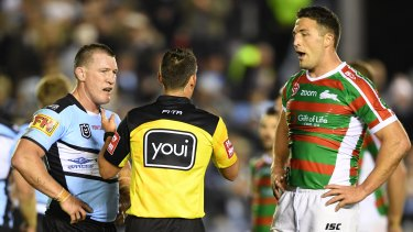 Bad look for the game: Souths received only a fine for Sam Burgess' hit on Matt Moylan.