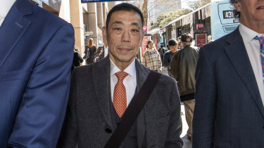 Ernest Wong arrives at the NSW Independant Commission Against Corruption.