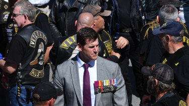 Victoria Cross recipient Ben Roberts-Smith at Remembrance Day commemorations at the Australian War Memorial last month.