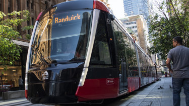 Passengers were evacuated from the light rail and services were temporarily stopped between Moore Park and Randwick after a power failure on Sunday afternoon.