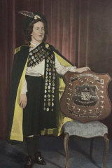 Geraldine Ryan (then Geraldine O'Shea) as state and Australian champion - taken circa 1950.