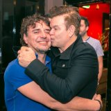 Spiro Boursine with English producer and DJ Paul Oakenfold.