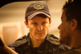 Damon Herriman plays a traumatised border patrol officer in The Commons.