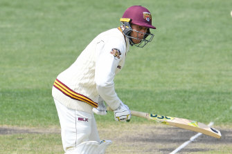 Usman Khawaja remains unbeaten for Queensland but the Bulls are staring down the barrel of a Sheffield Shield loss to NSW.