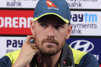 Australian captain Aaron Finch.