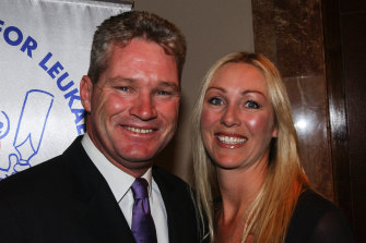 Former Australian cricketer Dean Jones and his wife Jane.