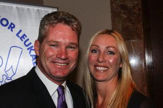 Former Australian cricketer Dean Jones and his wife Jane.