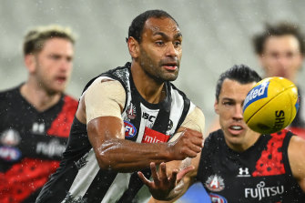 Collingwood defended Travis Varcoe after he was abused on social media.