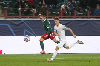 Joshua Kimmich proved the difference in Bayern Munich's 2-1 win over Lokomotiv Moscow.