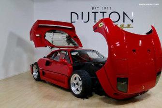 The Ferrari F40 allegedly linked to Alexandre Dubois.