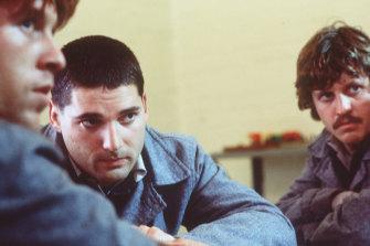From left: Simon Lyndon as Jimmy Loughnan, Eric Bana as Chopper and Dan Wylie as Bluey.