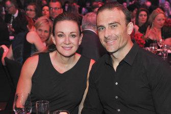 """Michelle Bridges and former partner Steve """"Commando"""" Willis."""