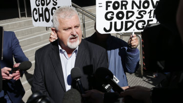 Peter Gogarty outside court.