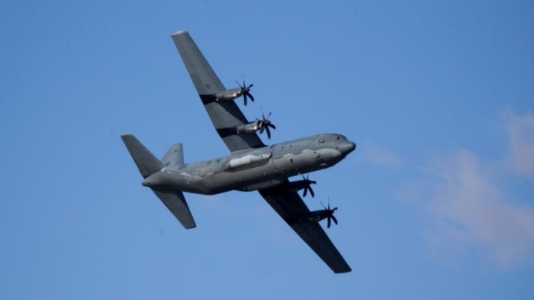 Raaf Hercules Landing Gear Malfunctions Above Townsville Airport