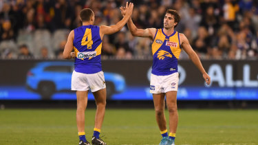 Dom Sheed and Andrew Gaff were booed by Magpie fans last Saturday before the Eagles ran home to a 22-point win.