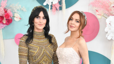 Sisters Ali and Lindsay Lohan at the Melbourne Cup.