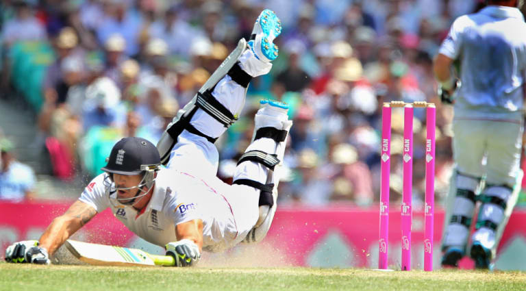Kevin Pietersen giving his all.