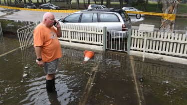 Resident Chris Hanna's property on Stephen Road in Botany was flooded  last week after a main burst.