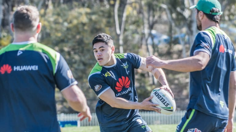 Young Raiders playmaker Paul Roache was surprised he got picked for the Junior Kiwis so soon after switching from rugby union.
