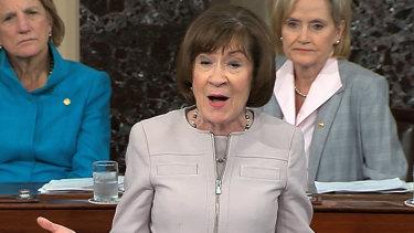 Republican Senator Susan Collins announced that she would support Brett Kavanaugh's nomination.