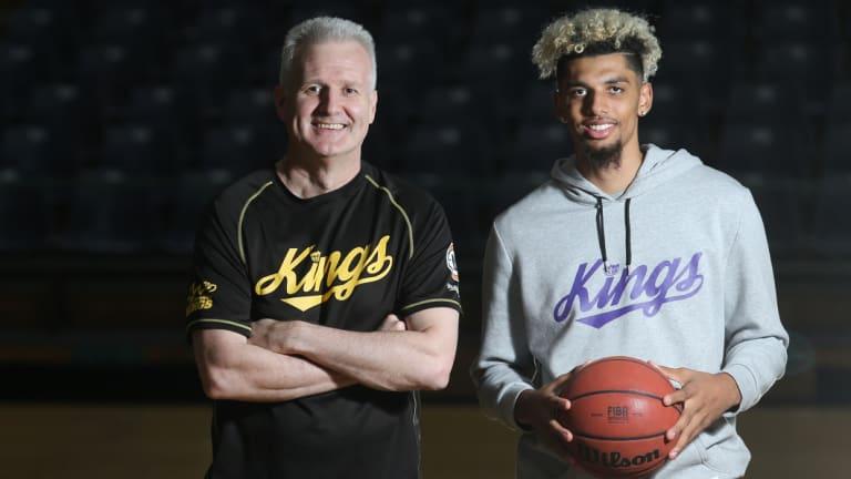 Bowen with Kings coach Andrew Gaze.