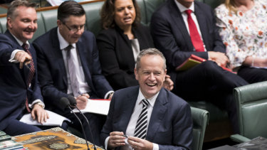 Labor leader Bill Shorten in Question Time on Tuesday.