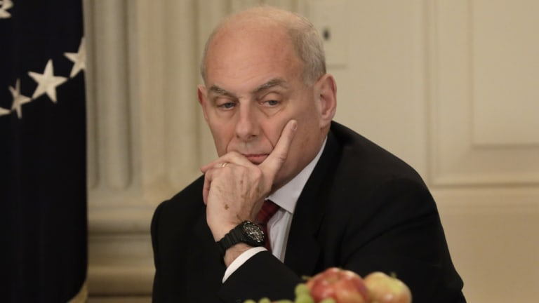 Diminished standing: Chief of staff John Kelly.