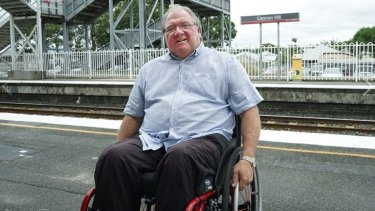 Spinal Life Australia's Bill Williams at Cannon Hill Station.