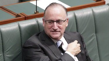 Liberal MP Steve Irons during a division in the House of Representatives at Parliament House in Canberra.