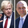 Boris Johnson, Sajid Javid, Amber Rudd composite. Photo: Bloomberg