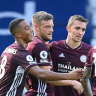 Vardy double hands Leicester the win at West Brom, Everton beat Spurs