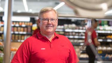 Coles managing director Steven Cain.