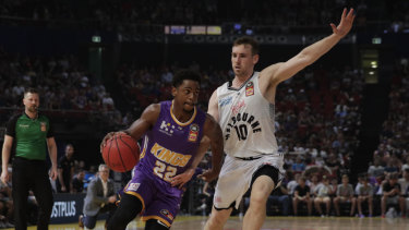 Star turn: Casper Ware of the Sydney Kings controls the ball during the match against his former side Melbourne United yesterday.