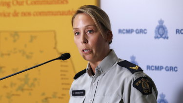 Royal Canadian Mounted Police Corporal Julie Courchaine.