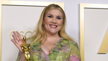 Emerald Fennell, winner of the Oscar for best original screenplay for Promising Young Woman.