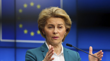 Apology: European Commission President Ursula von der Leyen.